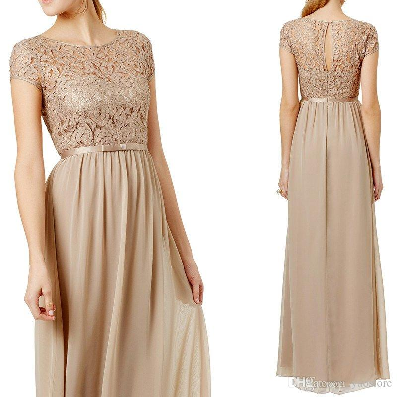 Champagne Colored Long Dresses