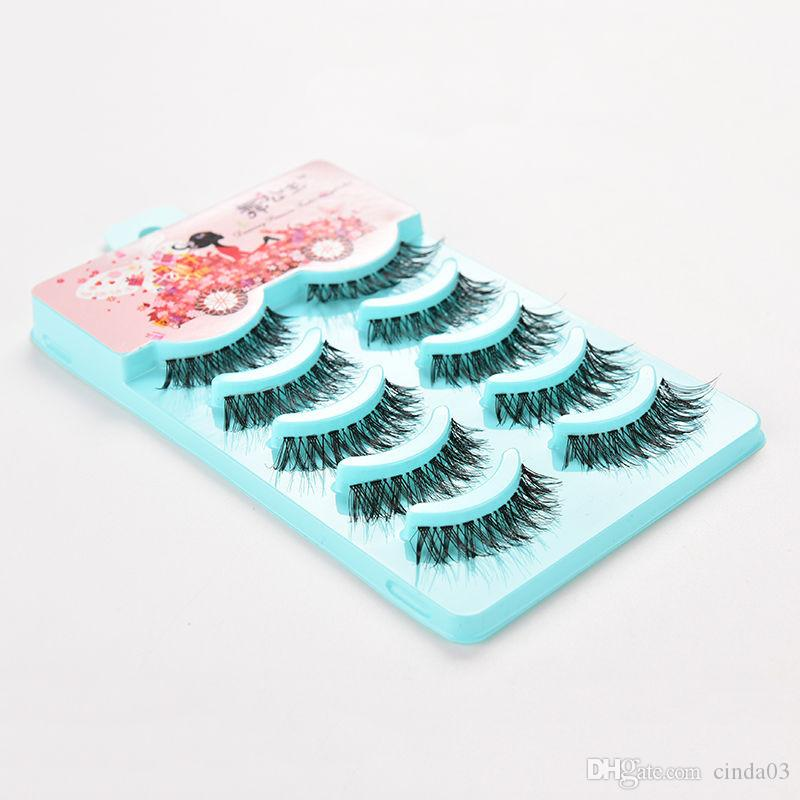 False Strip Lashes Beauty Essentials False Eyelashes Set Hand Made Crisscross Eye Lash Extension Tools