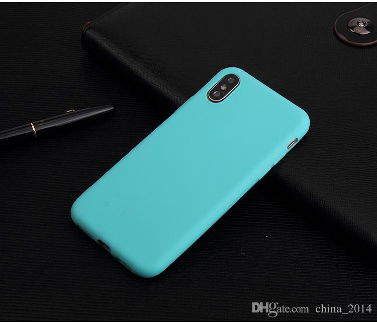 For iphone X 8 7 6 5 Ultra Thin matte TPU Soft Case Cellphone Shell protective Cover candy color new arrival