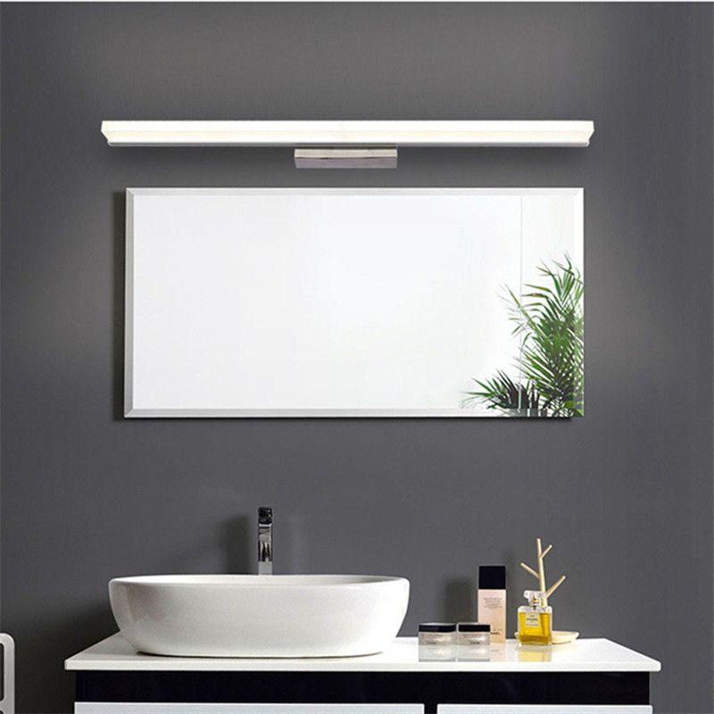 Großhandel Badezimmerspiegel Licht Led Wandleuchte Spiegel Front Make Up  LED Beleuchtung Wasserdichte Antifogging Acryl LED Wandspiegel Licht # 02  Von ...