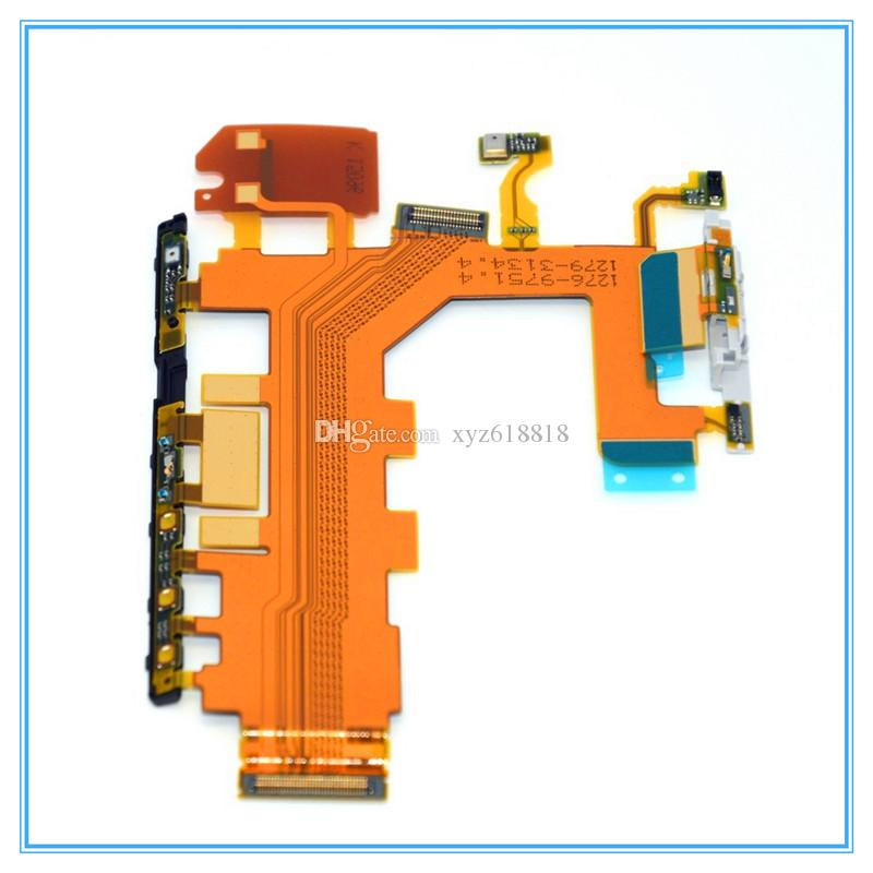 New OEM High Quality Power Button Flex Cable For Sony Xperia Z Z1 L39h Z2 D6502 D6503 Z3 D6603 D6653 Volume Switch Flex Microphone Buttons