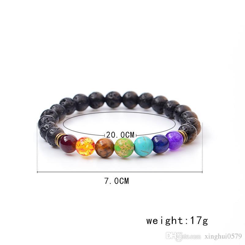 Handmade Diffuser Jewelry Anti-fatigue Lava Natural Stone Charms Bracelets Volcanic Rock Charm Bracelets Prayer Beads Bracelet