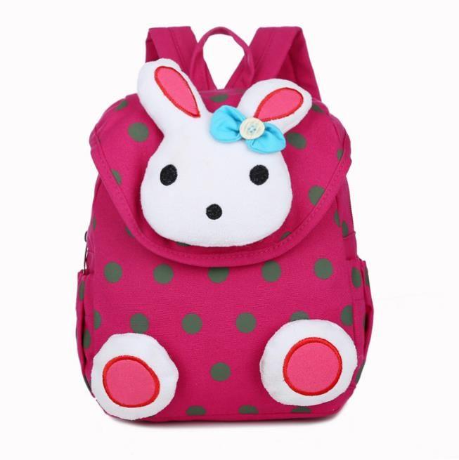 Nueva moda Hot Rabbit Anti Stray Toddler mochila softback mini mochila regalos de los niños de kindergarten niño niña regalos