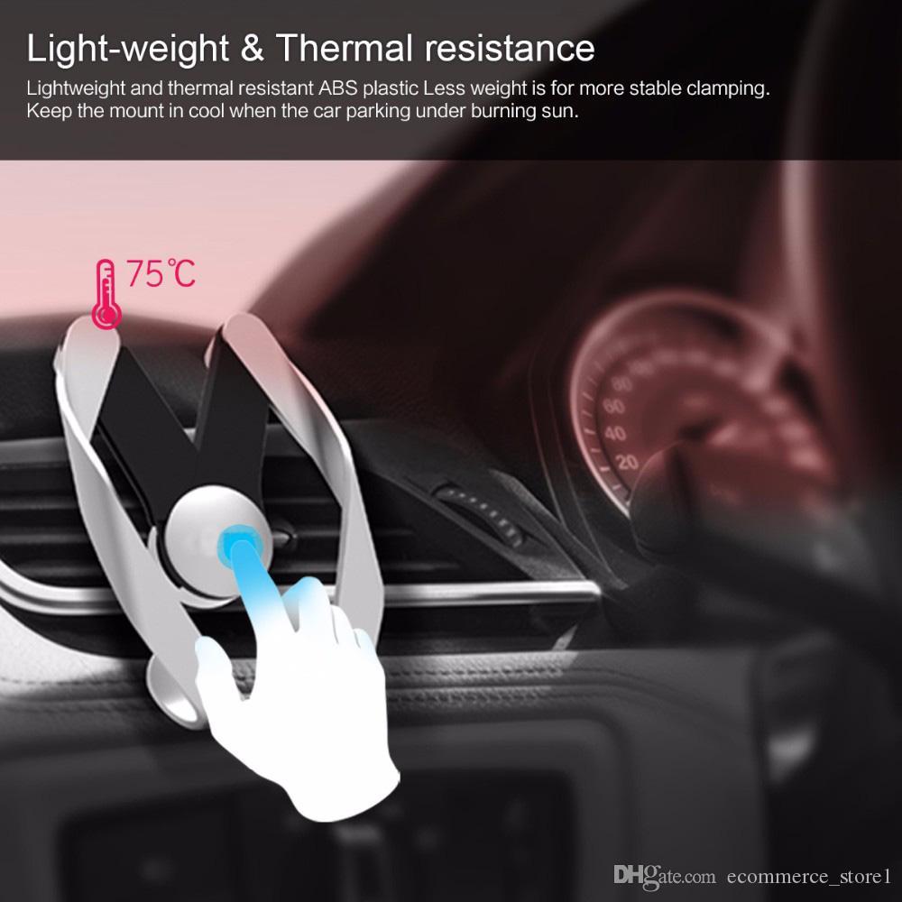 Autobot M Mobile Vent Phone Car Holder para iPhone Samsung Car ABS Material Air Outlet Ajustable Car Phone Stand Con paquete al por menor