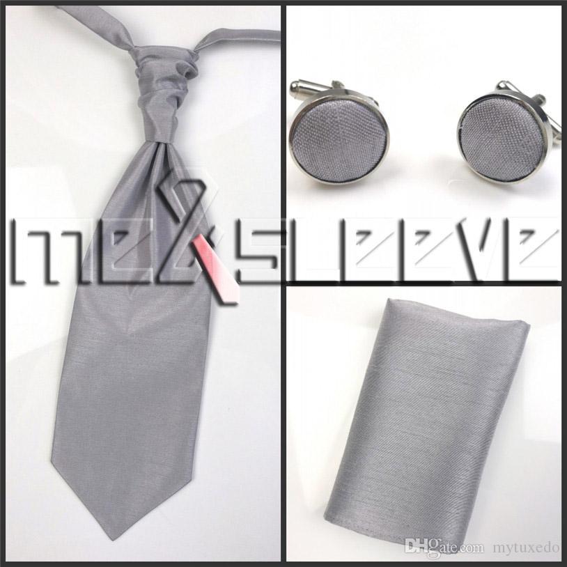 NEW!!!!MENS SUIT plain silver Vest Vest+cravat+hanky+cufflinks