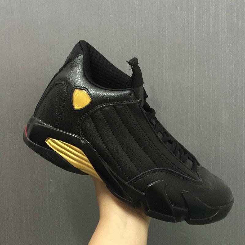 promo code 75553 8cd75 New 14 XIV DMP Black Metallic Gold men Basketball Shoes fashion 14S Sports  Shoes With Shoes Box size 8-12