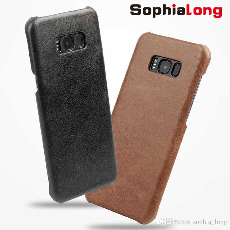half off 2dce4 fe557 S8 Cases for Samsung Galaxy S8 Plus Cover Genuine Leather Case for Galaxy  S8 Back Shell for Samsung G9500 G9550 Retro Corium Caps