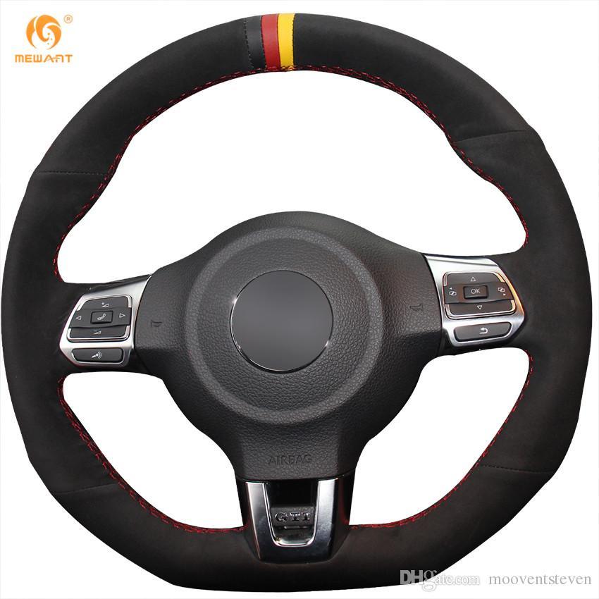 Mewant Black Suede Black Red Yellow Marker Car Steering Wheel Cover for  Volkswagen Golf 6 GTI MK6 VW Polo GTI Scirocco R for Volkswagen Golf 6 GTI  for ...