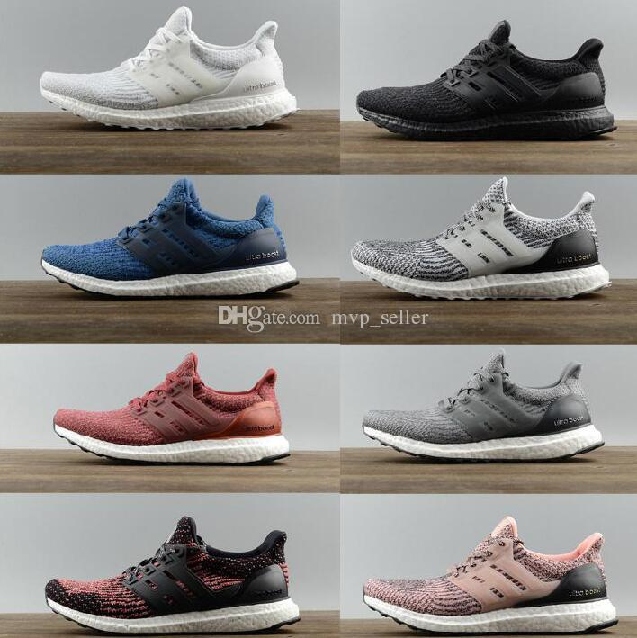 best service 3cd3c addb6 Compre Alta Calidad Ultraboost 3.0 4.0 Uncaged Running Shoes Hombres  Mujeres Ultra Boost 3.0 III Primeknit Runs White Black Athletic Shoes  Tamaño 36 47 A ...