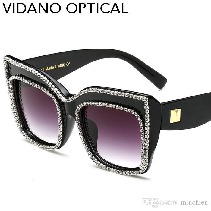 Compre Vidano Optical Limited Edition Luxo Cristal Diamante Óculos De Sol  Para As Mulheres Dos Namorados Presente Mais Recente Designer De Moda Olho  De Gato ... 231d7ecb29