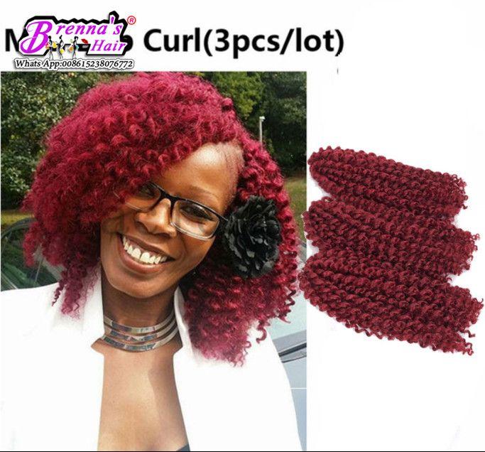 New 8'' Mali Bob Afro Kinky Curly Twist Malibob Ombre Kanekalon Hair two tone easy install hair twist braids