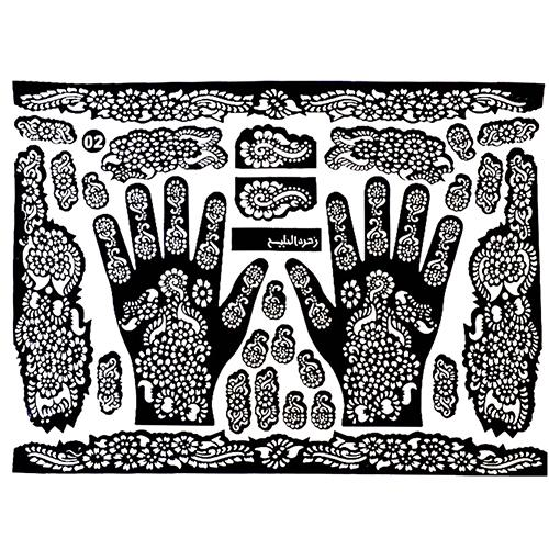 Wholesale Tattoo Templates Hands Feet Henna Stencils For Airbrushing Mehndi Body Painting Stencil Template