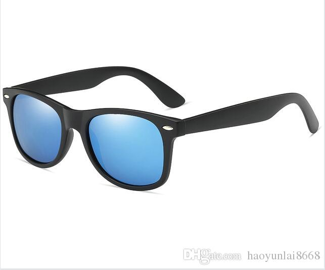 b6534eba6c 2018 Retro Rivet Polarized Sunglasses Men Black Matte Plastic Sun Glasses  For Men Brand Classic Vintage Shades Oculos Male  A2140 Vuarnet Sunglasses  Bifocal ...