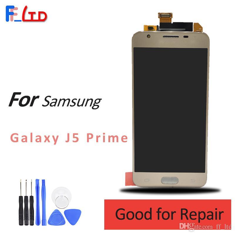 Écran OEM pour écran de numériseur d'affichage à cristaux liquides Samsung J5 Prime G570 avec ensemble d'écran tactile Noir or blanc G5700 G570F G570K