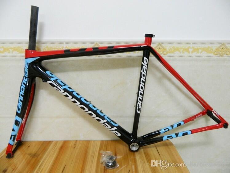 Quadro Cannondal Carbono Supersix EVO Preto Matt / Acabamento De Carbono Estrada Bicicleta Quadro 48 cm / 50 cm / 52 cm / 54 cm