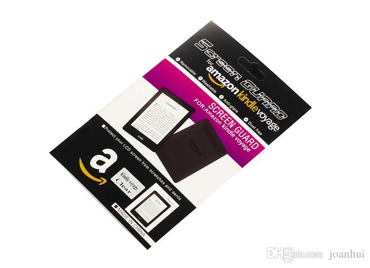 la protezione libera della pellicola della protezione dello schermo libera il PET di Amazon Kindle Voyage con l'imballaggio al dettaglio /