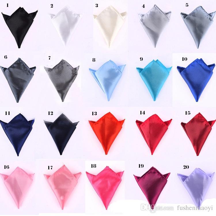 Moda Erkek resmi aşınma takım elbise cep mendil katı renk kare mendil Katı Renk 200 Parça Opsiyonel Çok tipleri DHL