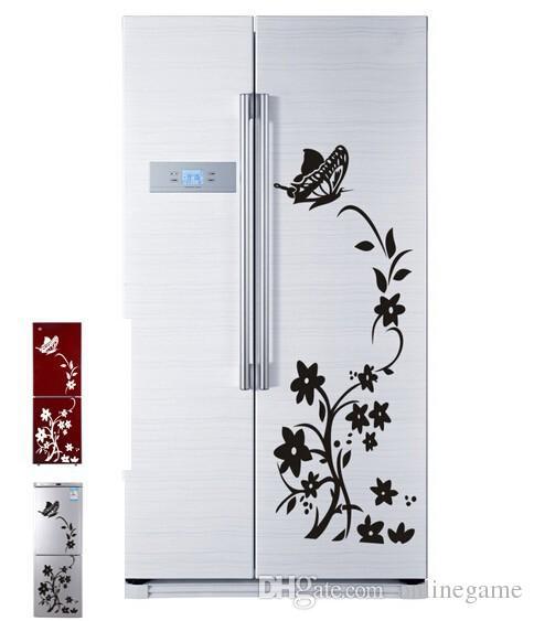 포도 나무 꽃 벽 스티커 냉장고 장식 diy 홈 데칼 비닐 아트 룸 벽화 포스터 adesivos 드 paredes