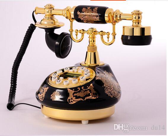 Decoration Arts crafts home ANENG Retro Vintage Antique Style Floral Ceramic Home Decor De Ceramic Crafts Desk dial process Telephone Model