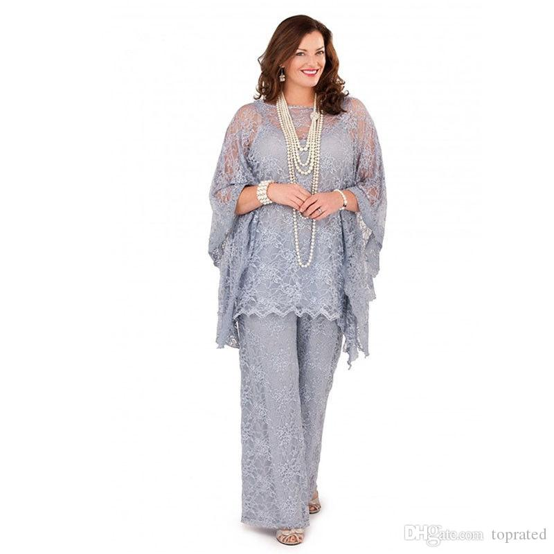 Gorgeous Lilac Plus Size 2017 Lace Chiffon Mother Of The