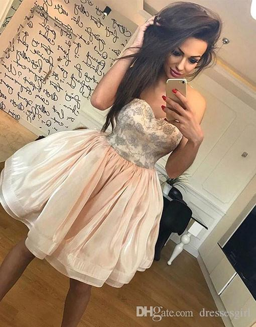 Beautiful Formal Cocktail Dresses Simple Sweetheart Ball Gown Special Chic Sexy Morden Short Skirt