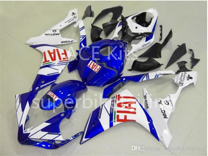 3 free gifts Complete Fairings For Yamaha YZF 1000 YZF R1 2007 2008 Injection Plastic Motorcycle Full Fairing Kit Blue White A16