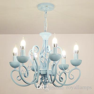 Delicieux Multiple Chandelier Modern White/pink/blue Candle Iron Childrenu0027s Ceiling  Light Led Lamp Lighting Dining Room Bedoom Study