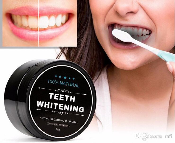 100% натуральный отбеливание зубов Активированный органический уголь улыбка порошок отбеливатель уход за зубами комплект обеззараживания зубов желтый пятно