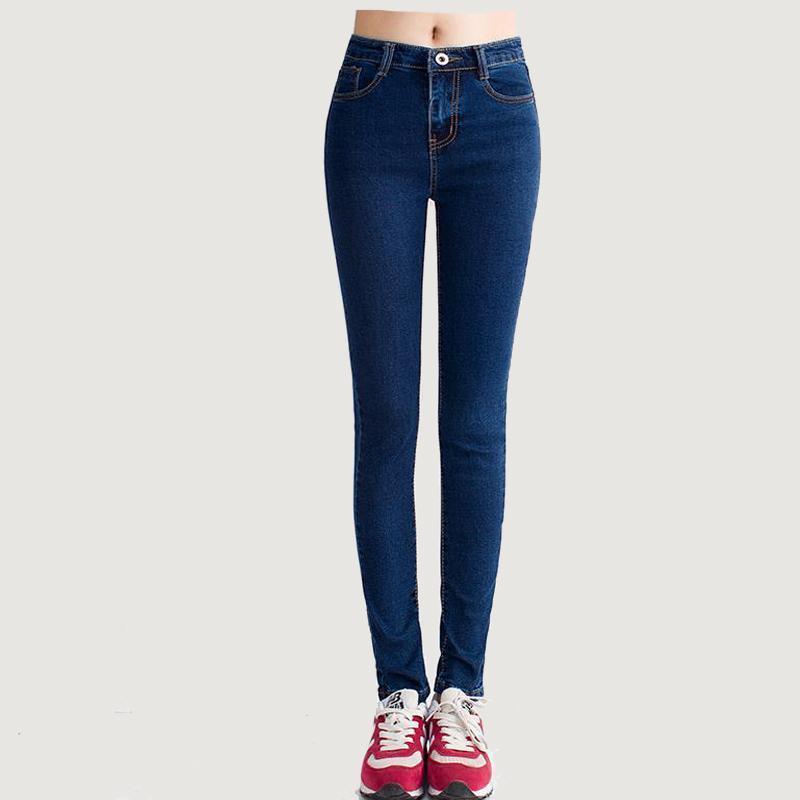Skinny Marque Haute Vente En Qualité Gros Femmes 2017 Nouvelle Denim Jean Pantalon Length Taille Bonne Mode Full Jeans Automne T3FucJK1l5