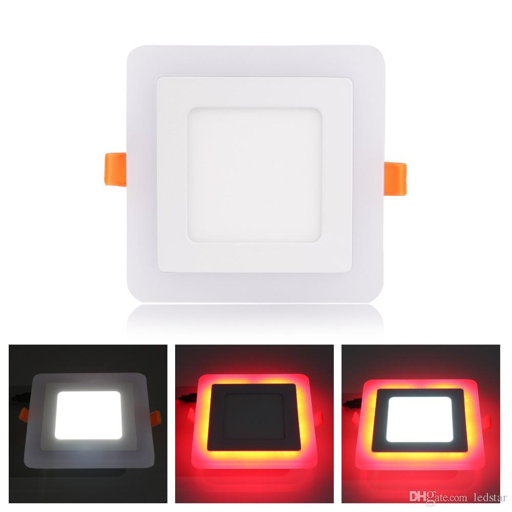 LED Downlight Round Square 6W 9W 16W 24W 3 Model LED Lamp Double Color Panel Light two Color Ceiling Recessed Lights Indoor Lighting