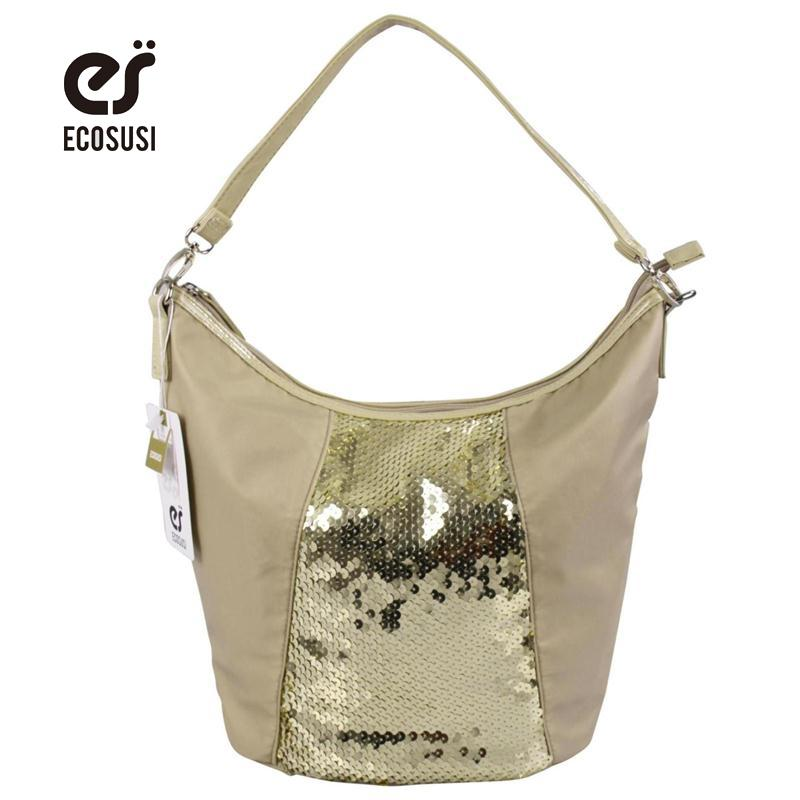 73fbf9ab3d Wholesale- ECOSUSI New Women Handbags Single Shoulder Bag Patchwork ...
