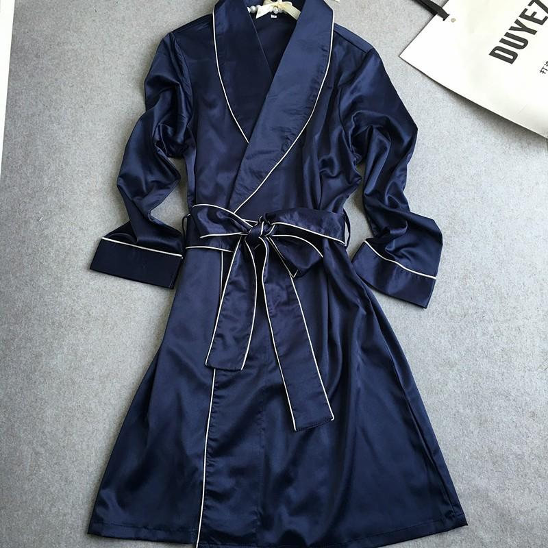 Wholesale- New Fashion Womens Silk Robes Pijamas Bathrobes Long ... 2076e45b6