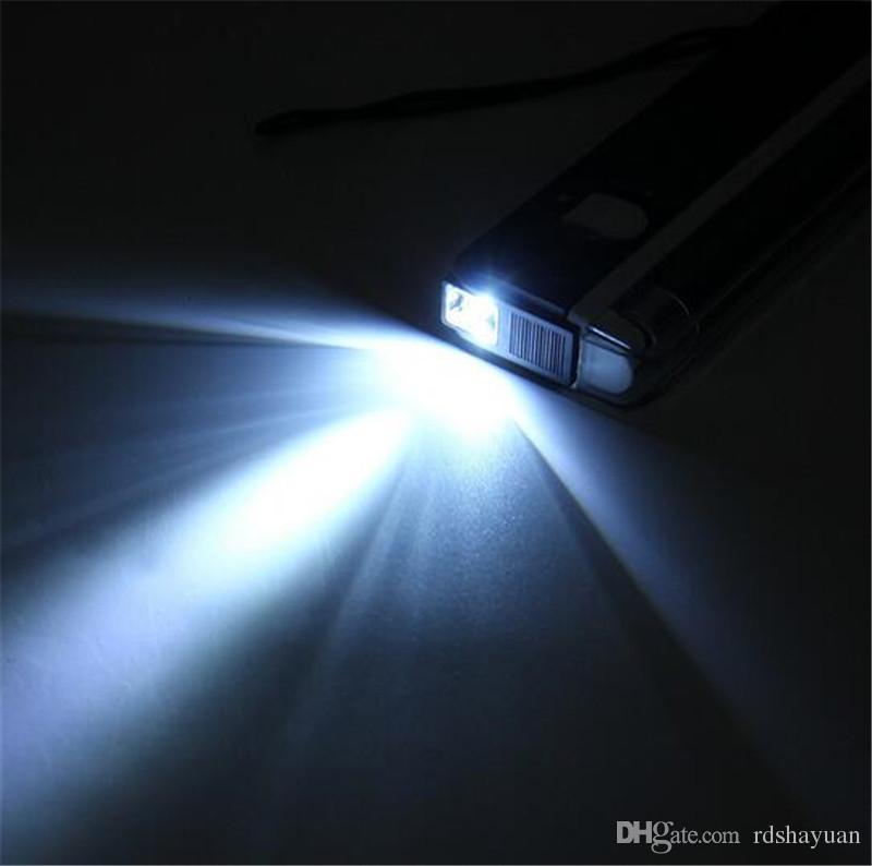 Preto Portátil Ultravioleta Lâmpada 2em1 Piscando Tocha Blacklight Tubo de Luz UV Lâmpada Detector de Dinheiro Portátil Alimentado Por Bateria 6 V