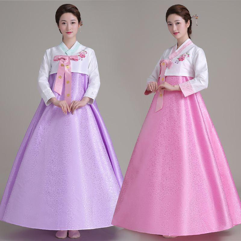 2018 Q228 Top + Skirt +Hair Band Women Korean Traditional Dress ...