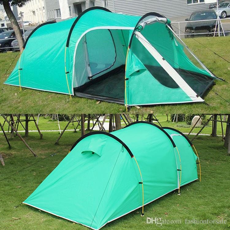 Outdoor 3 4 Person C&ing Tent Family Hiking Party Tents One Bedroom u0026 One Living Room Casual Waterproof Tents For Events Dhl 6 Man Tents Backpacking Tent ... & Outdoor 3 4 Person Camping Tent Family Hiking Party Tents One ...
