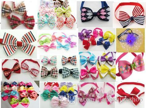 Big sale Fashion Pet Dog puppy Cat Cute Bow Ties Neckties Bowknot Dog Grooming Products Mixed style LY03