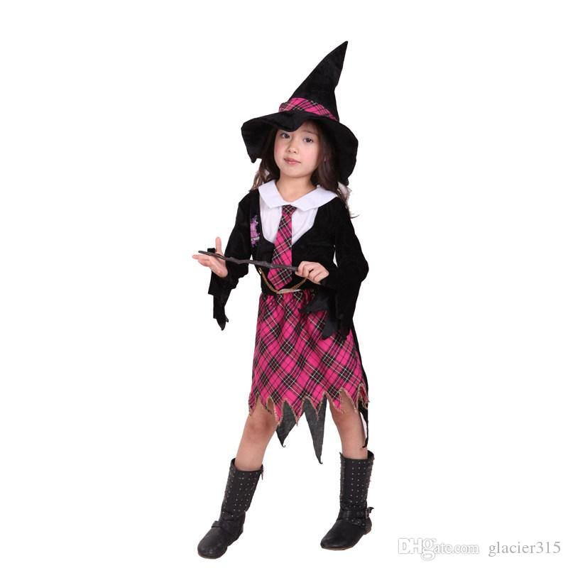 Acquista Bambini Fantasia Cosplay Little Witch Costume Abra Academy Little  Girl Suits Halloween Christmas Party Abbigliamento Vestito Da Carnevale A   17.55 ... 0e54e7e1ea4