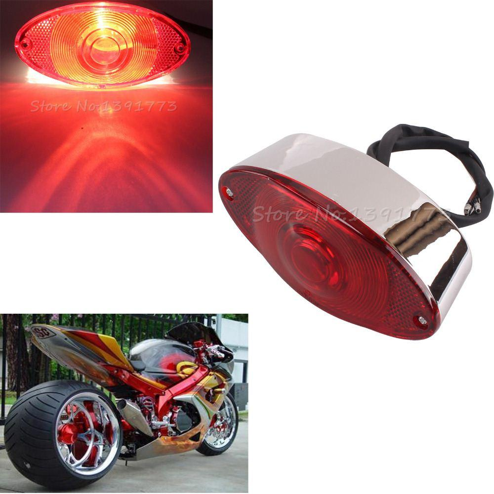 2018 Custom Universal Motorcycle Rear Brake Tail Light Red