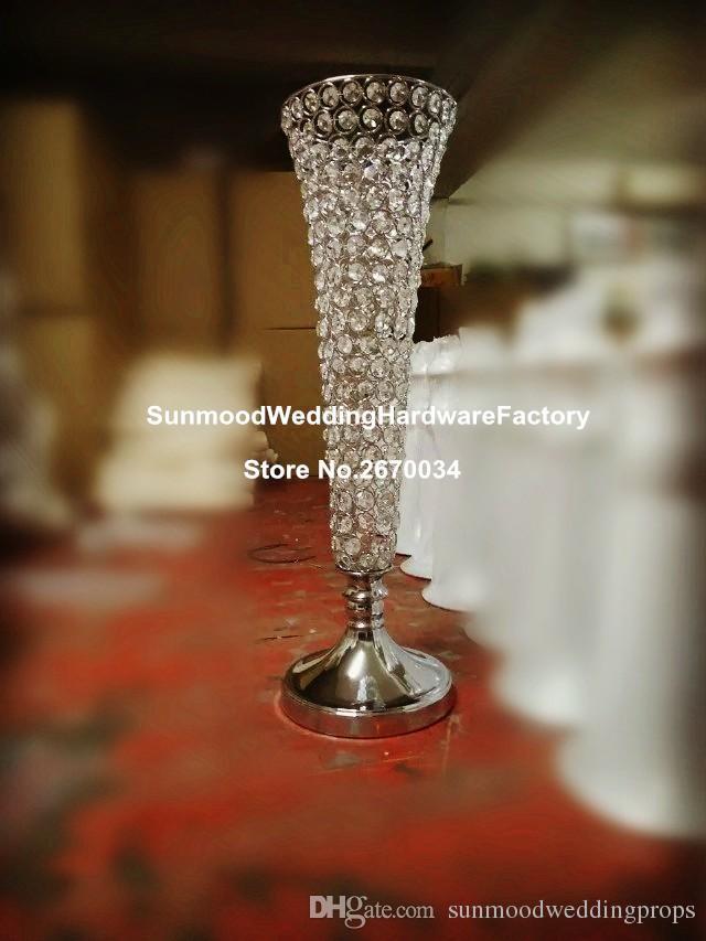 Zihinsel Düğün Masa Dekorasyon için uzun İnce Temizle Silindir Cam Vazolar