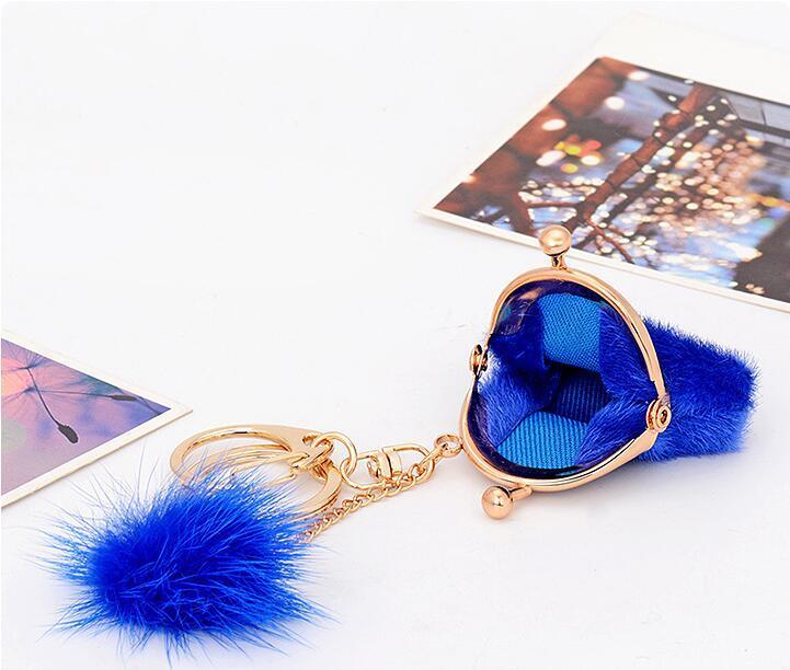 Moda in metallo plush vera borsa a forma di coniglio portachiavi personalizzato portachiavi borsa borsa decorazione borsa Huarache Pandent