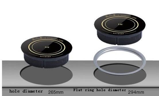 piatto caldo ristorante 288 millimetri commerciale integrato circolare forno elettromagnetico 220V con anello in acciaio del desktop integrato a duplice uso inductioncooker