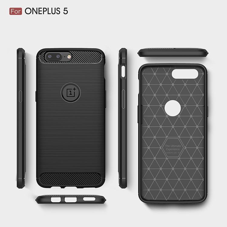 OnePlus 7T Pro 7 Pro / OnePlus 6 6T 5 in fibra di carbonio 5T custodia morbida di TPU della pelle del gel indietro Silicon OnePlus 8 Coperchio Pro Phone