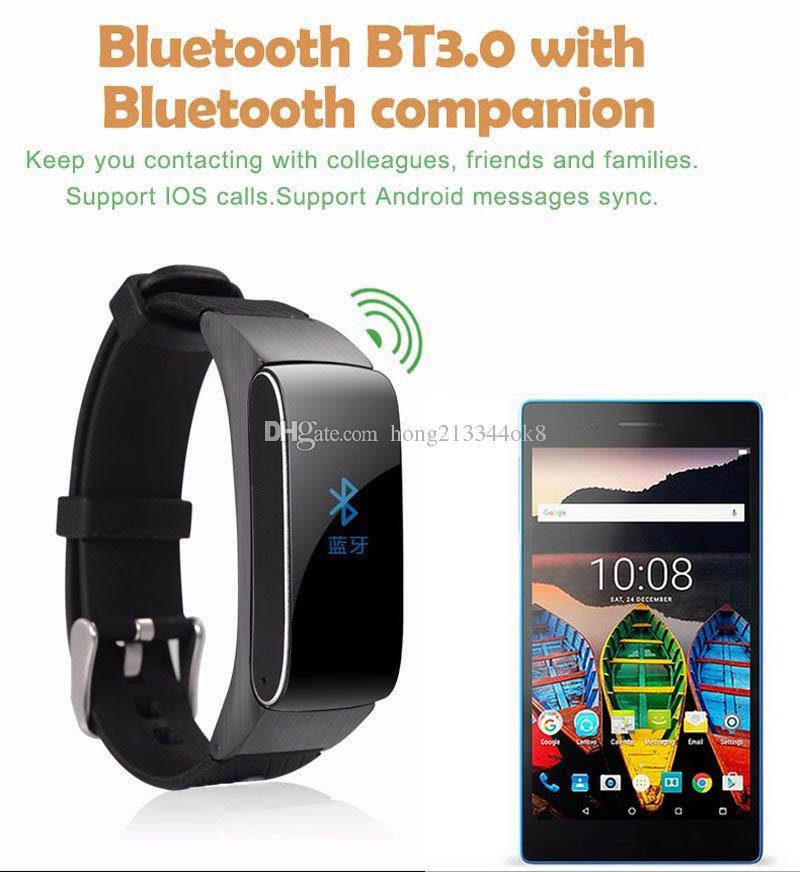 New Bluetooth Smartband Smart Bracelet Watch DF22 HiFi Sound Headset Digital Wrist Calories Pedometer Track Fitness Sleep Monitor