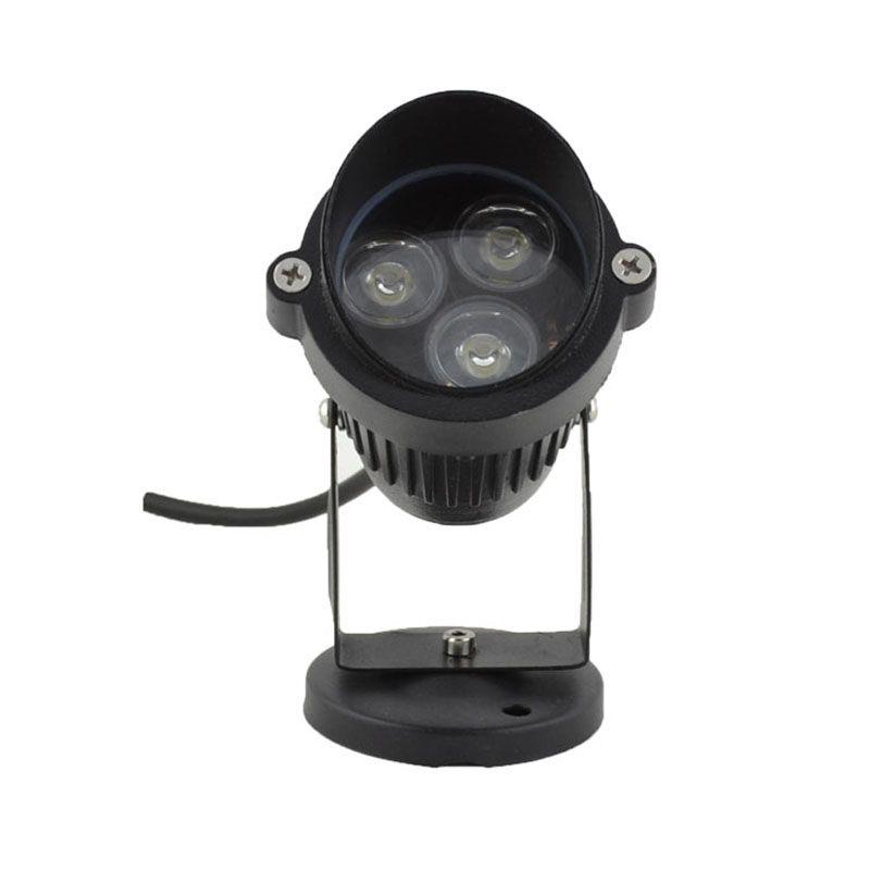 10 adet / grup 3 W AC85-265V 12 V LED Bahçe Spike işık IP65 Su Geçirmez Projektör Yolu Peyzaj Spot Işık Güvenlik Çim Işık