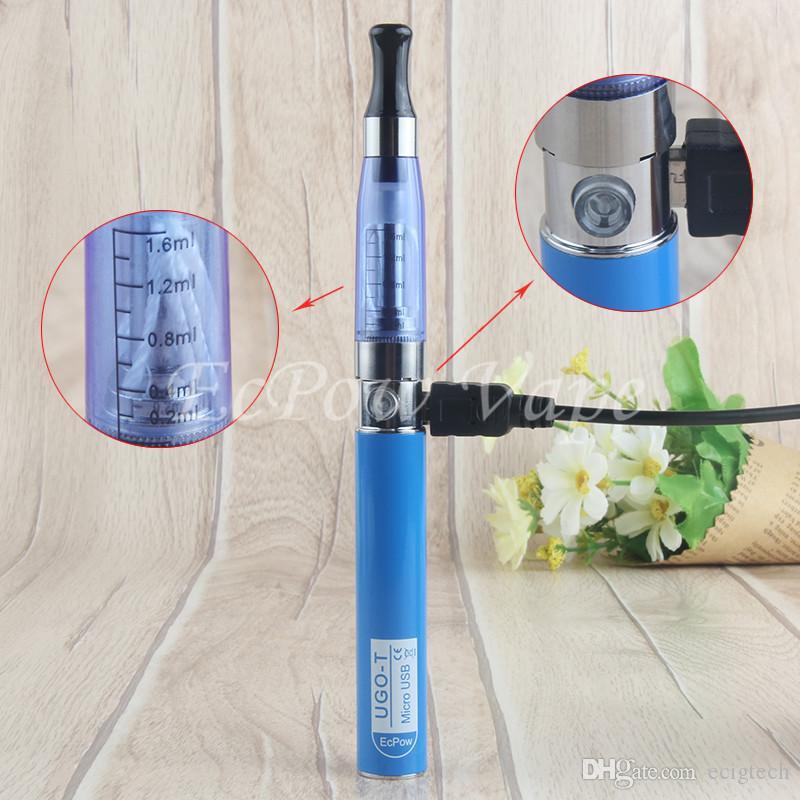 New Arrival CE4 Vaporizer Pen eGo-t Micro USB Charger UGO-T Vape Pens Battery Side Charging Light handy Blister Starter Kit By ePacket 0
