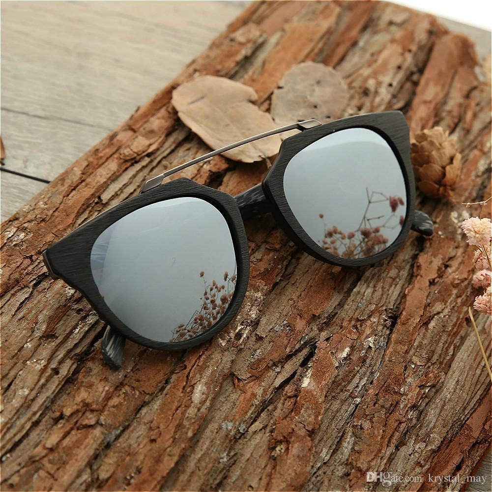 Compre Nuevas Gafas De Sol Para Hombre Polarized Espejo Negro Marco ...