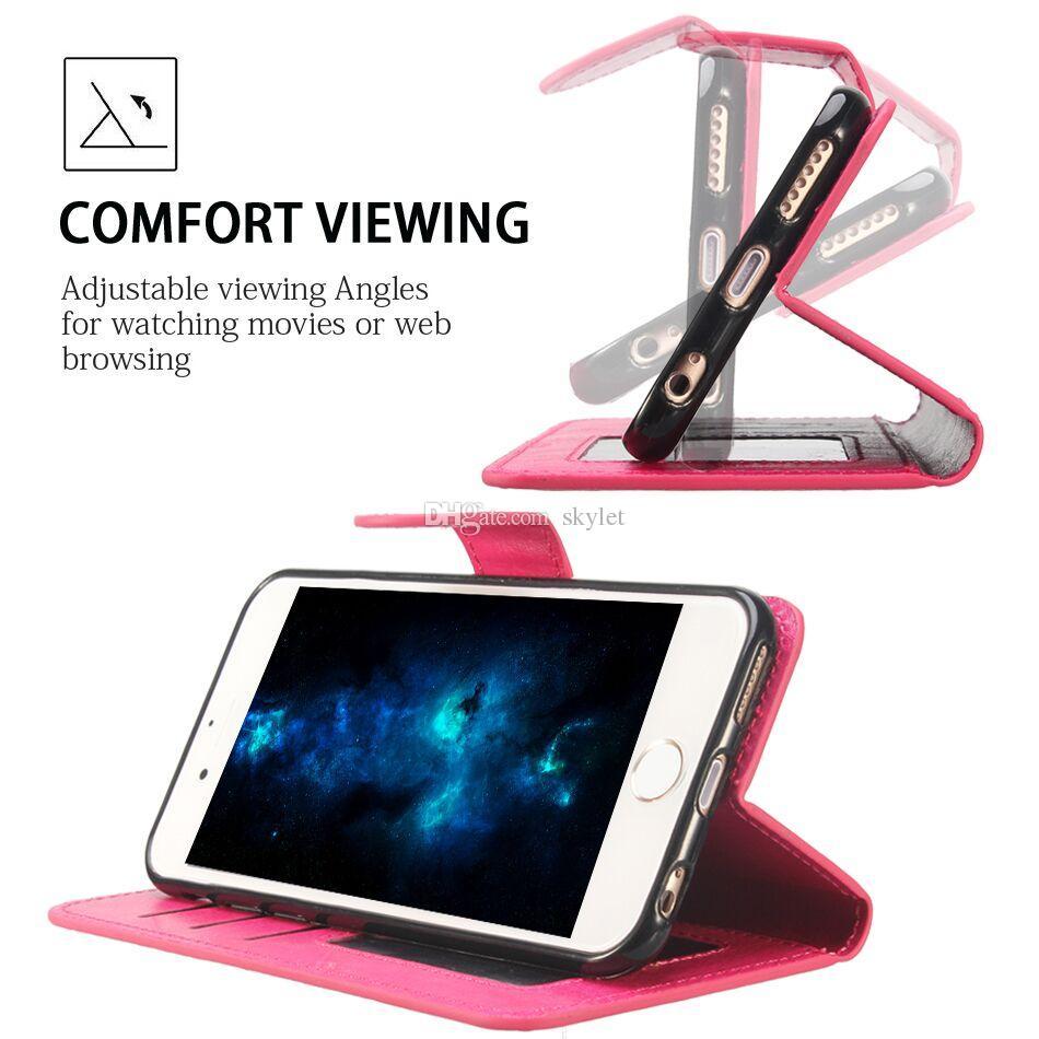 آيفون 12 11 PRO XS MAX XR الهاتف حالة PU حالات محفظة مع الأغطية إطار الصورة فتحة حقيبة جلد لS10 S10 PLUS ملاحظة 9 S9 PLUS Note20