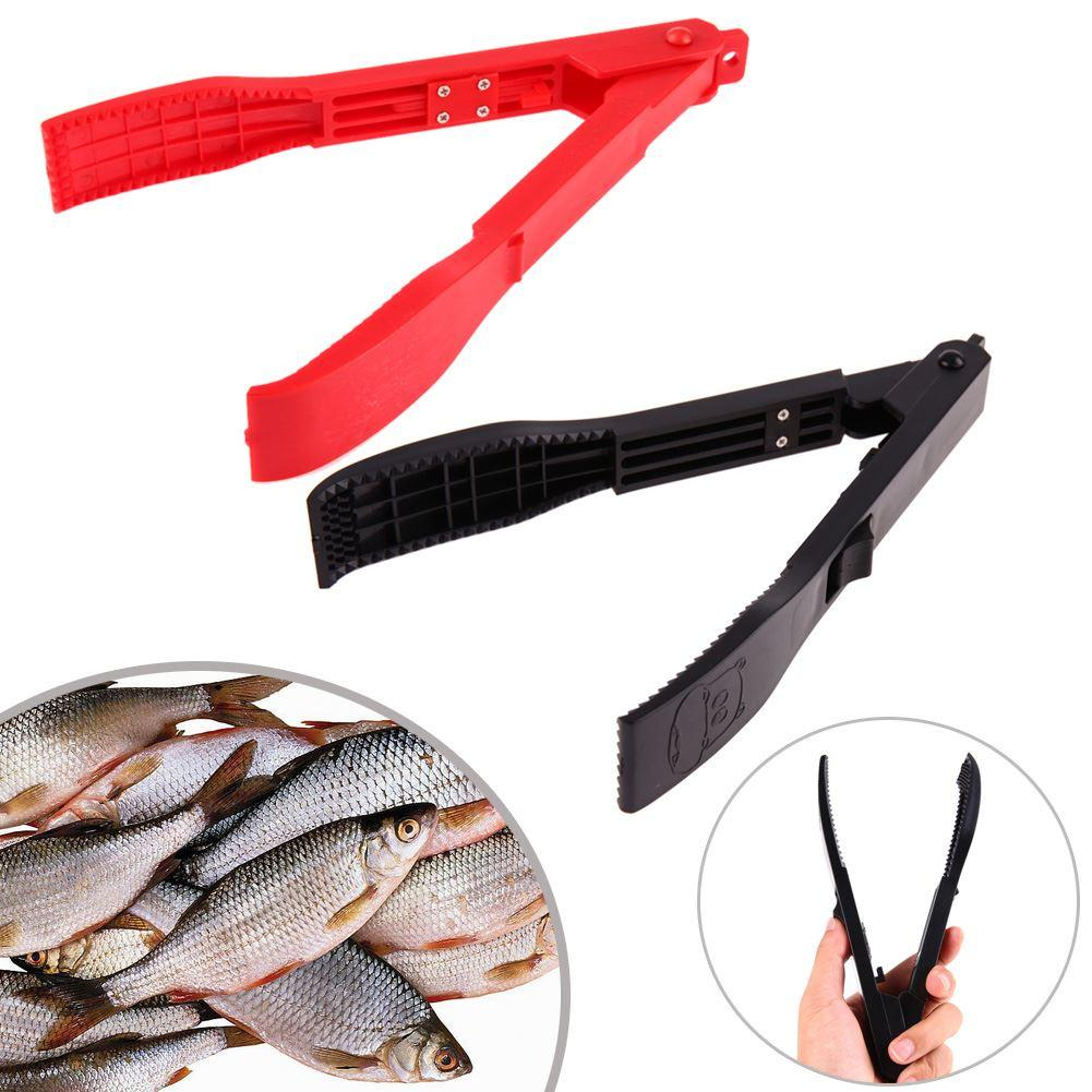 BBQ Kitchen Tool Fishing Gripper with Lock Switch Fish Grip Clamp Body Holder Controller Grip Gripper Grabber Spring Tongs