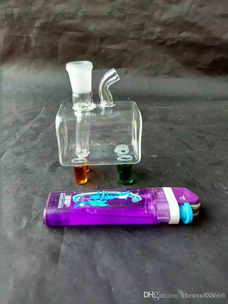 유리 작은 냄비 봉 액세서리, 유리 물 파이프 담배 파이프 여과기 유리 봉 오일 버너 워터 파이프 오일 리깅 흡연