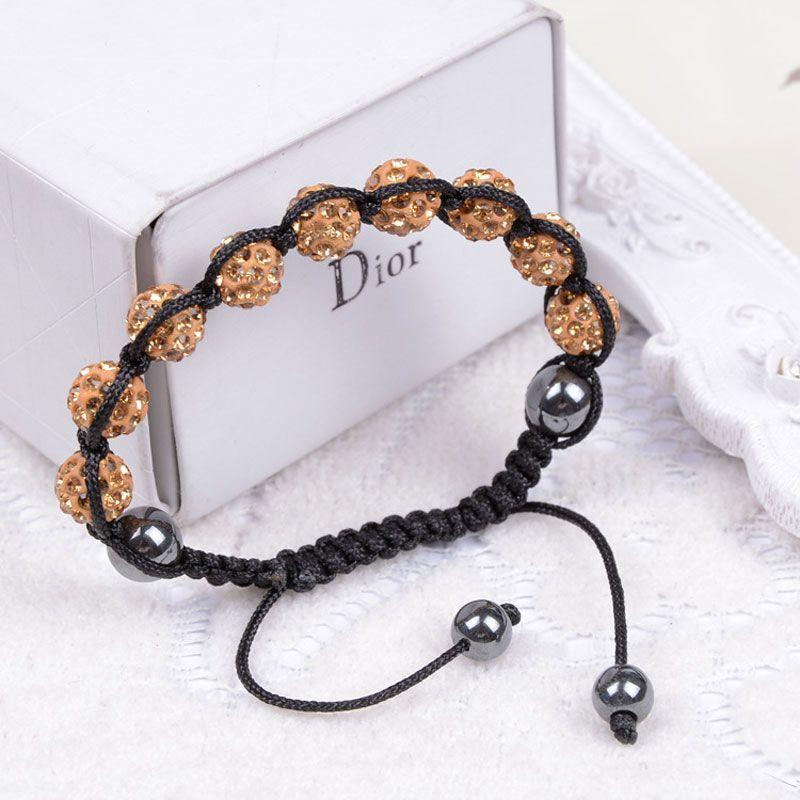 Hot New Handmade Crystal Shambala Bead Rope Spread Bracelet Pave Disco Ball Bracelet Jewelry gift
